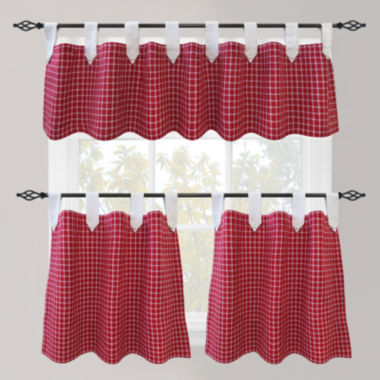 jcpenney.com | Park B. Smith Picnic Check Tab-Top Kitchen Curtains