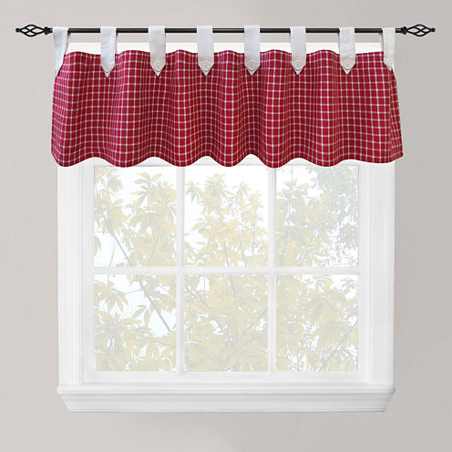 Park B. Smith® Picnic Check Tab-Top Valance