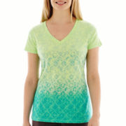 Made For Life™ Short-Sleeve Ombré Graphic T-Shirt - Petite