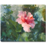 Pink Hibiscus Canvas Wall Art