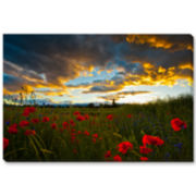 Poppy Field Canvas Wall Art