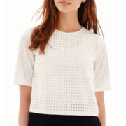 MNG by Mango® Elbow-Sleeve Eyelet Top