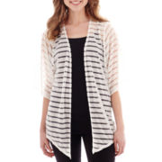 Alyx® 3/4-Sleeve Shadow-Striped Cardigan Sweater Cozy