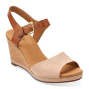 Clarks® Helio Jet Womens Suede Ankle-Strap Sandals
