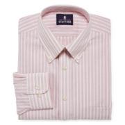 Stafford® Travel Wrinkle-Free Oxford Dress Shirt-Big & Tall