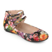 Journee Collection Tish Ankle Strap Ballet Flats