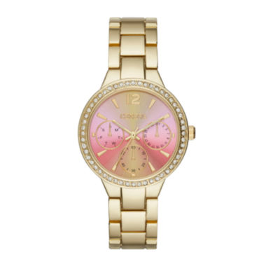 jcpenney.com | Geneva Womens Pink Gold-Tone Bracelet Watch