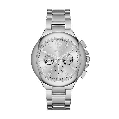 Geneva Womens Silver Dial Silver-Tone Watch