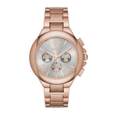 jcpenney.com | Geneva Womens Silver Dial Rose-Tone Watch