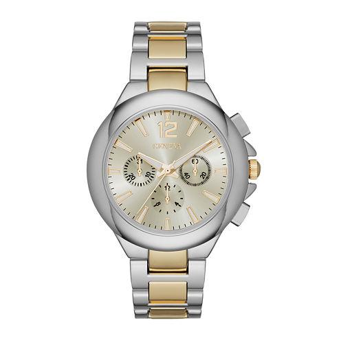 Geneva Womens Two-Tone Strap Watch