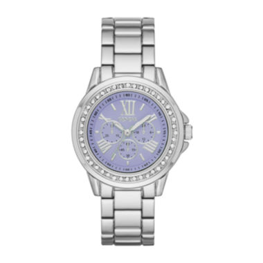 jcpenney.com | Geneva Womens Purple Dial Silver-Tone Watch