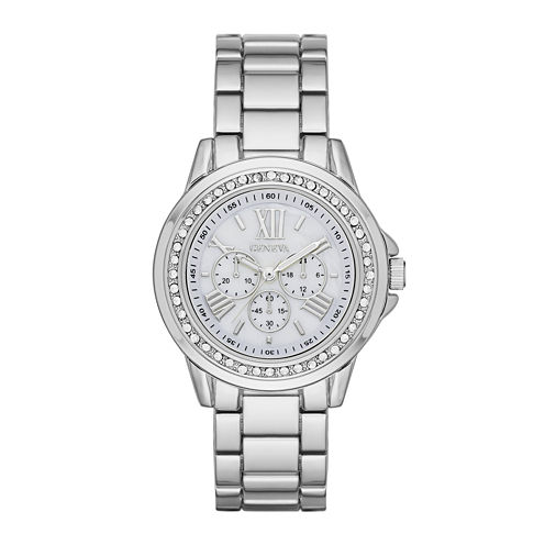 Geneva Womens White Dial Watch