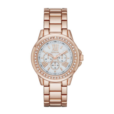 jcpenney.com | Geneva Rose-Tone Metal Watch