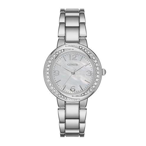 Geneva Womens White Twist Dial Watch