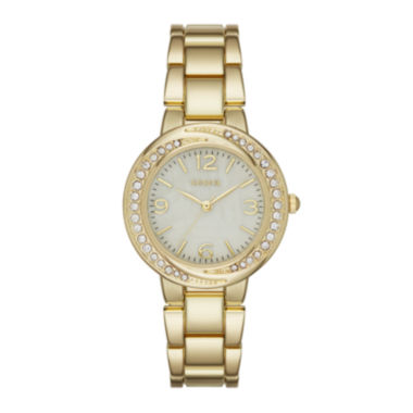 jcpenney.com | Geneva Womens Gold-Tone Twist Dial Watch