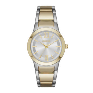 jcpenney.com | Geneva Womens Silver Dial Two-Tone Strap Watch