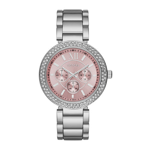 Geneva Womens Pink Dial Watch