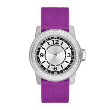 jcpenney.com | Womens Purple Strap Watch