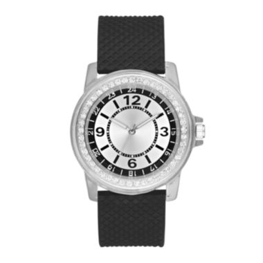 jcpenney.com | Womens Black Strap Watch