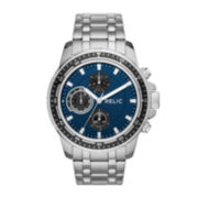 Relic® Mens Silver Blue Heath Bracelet Watch