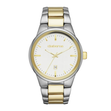 jcpenney.com | Claiborne® Mens Two-Tone Metal Link Watch