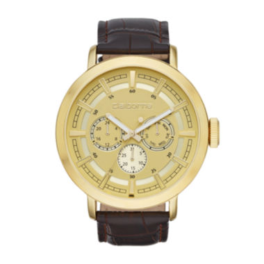 jcpenney.com | Claiborne® Mens Brown Leather Strap Watch