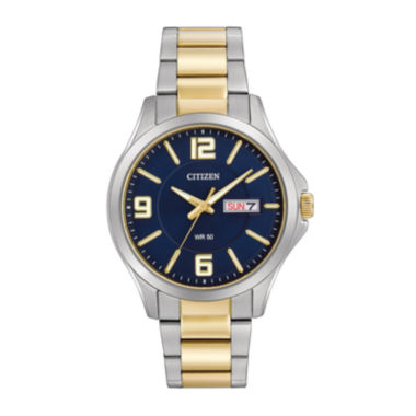 jcpenney.com | Citizen® Mens Two-Tone Stainless Steel Blue Dial Bracelet Watch BF2004-57L