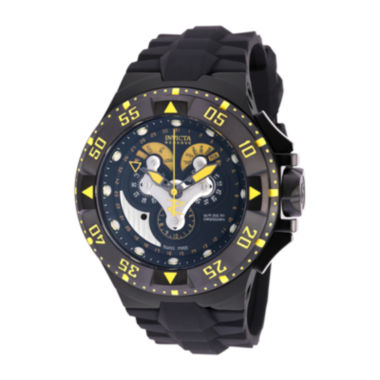 jcpenney.com | Invicta® Mens Black Silicone Strap Watch