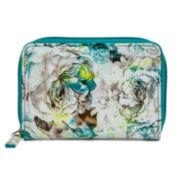 Mundi® Zip Around Indexer Soft Floral Print Wallet