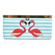 Mundi® Bay Harbor Flamingo Applique Clutch Wallet