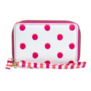 Mundi® Polka-Dot Zip-Around Indexer Wristlet