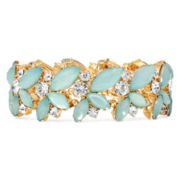 Vieste® Mint Stone Gold-Tone Stretch Bracelet