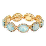 Vieste® Mint Stone and Crystal Stretch Bracelet