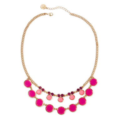 jcpenney.com | Liz Claiborne® Pink Gold-Tone Collar Necklace