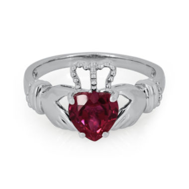 jcpenney.com | Heart-Shaped Lab-Created Ruby Sterling Silver Ring