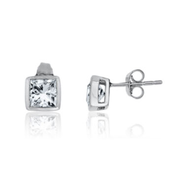 jcpenney.com | Lab-Created White Sapphire Sterling Silver Earrings