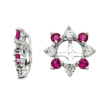 jcpenney.com | Lab-Created Ruby and Diamond Accent Earring Jackets
