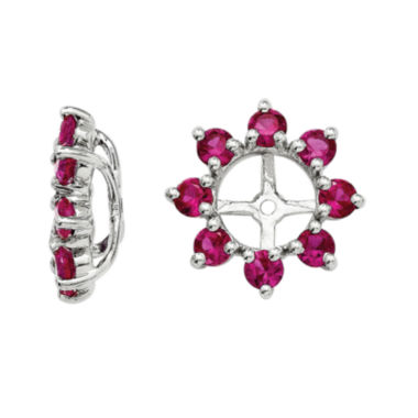 jcpenney.com | Lab-Created Ruby Sterling Silver Earring Jackets