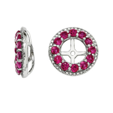 jcpenney.com | Diamond Accent & Lab-Created Red Ruby Sterling Silver Earring Jackets
