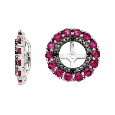 jcpenney.com | Lab-Created Ruby & Black Sapphire Sterling Silver Earring Jackets