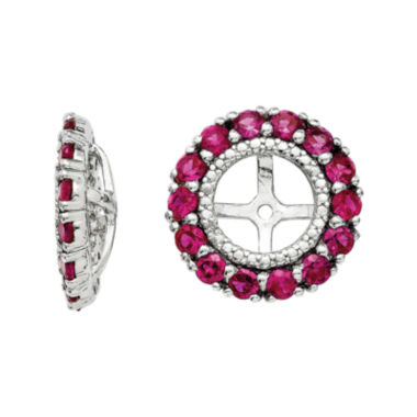 jcpenney.com | Lab-Created Ruby & Diamond Accent Sterling Silver Earring Jackets