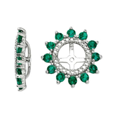 jcpenney.com | Lab-Created Emerald and Diamond Accent Earring Jackets