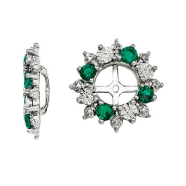 jcpenney.com | Lab-Created Emerald Sterling Silver Earring Jackets