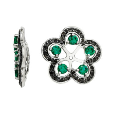 jcpenney.com | Lab-Created Emerald & Black Sapphire Sterling Silver Earring Jackets