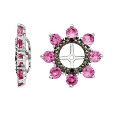 jcpenney.com | Lab-Created Pink Sapphire and Genuine Black Sapphire Earring Jackets