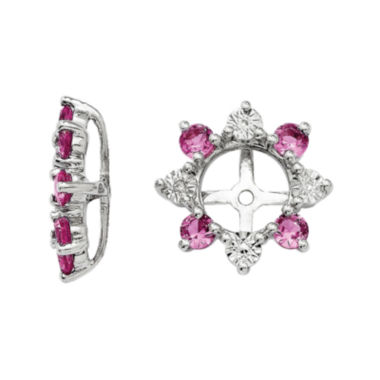 jcpenney.com | Lab-Created Pink Sapphire and Diamond Accent Earring Jackets