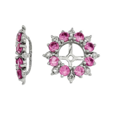 jcpenney.com | Diamond Accent & Lab-Created Pink Sapphire Sterling Silver Earring Jackets