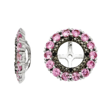 jcpenney.com | Lab-Created Pink & Black Sapphire Sterling Silver Earring Jackets