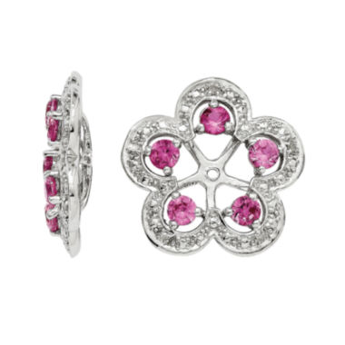 jcpenney.com | Lab-Created Pink Sapphire & Diamond Accent Sterling Silver Earring Jackets