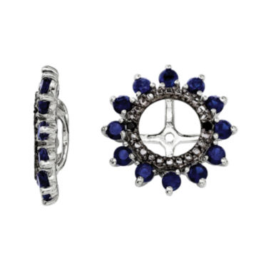 jcpenney.com | Lab-Created Sapphire and Black Sapphire Sterling Silver Earrings Jackets